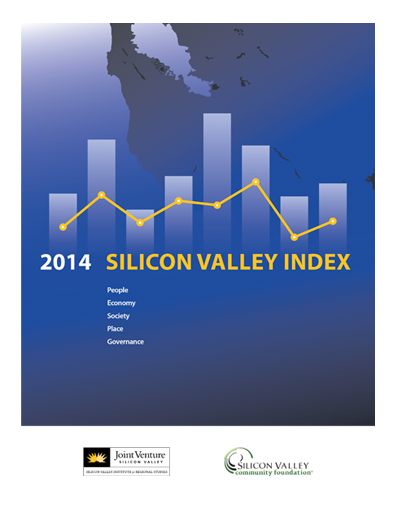 2014 Silicon Valley Index cover in blue
