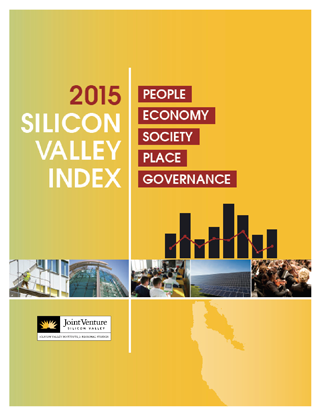 2015 Silicon Valley Index cover in yellow