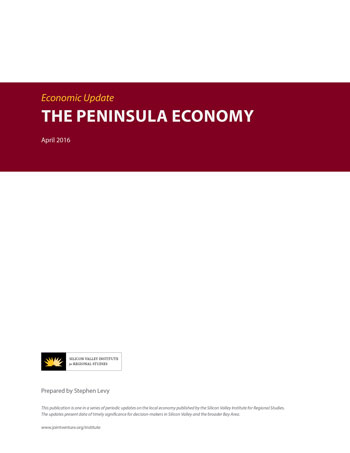 The Peninsula Economy - April 2016 report cover