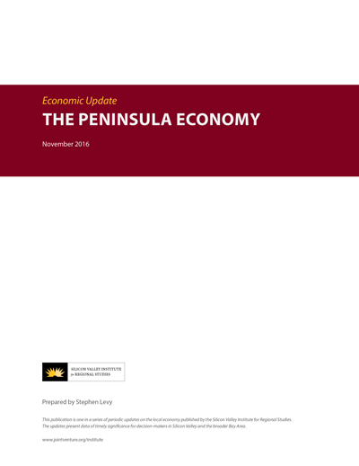 The Peninsula Economy - November 2016 report cover